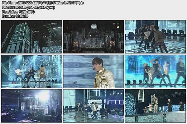 20121229 SBS가요대전 SHINee by라프라디