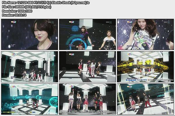 121229 SBS 가요대전 f(x) Electric Shock [fx2you.net]
