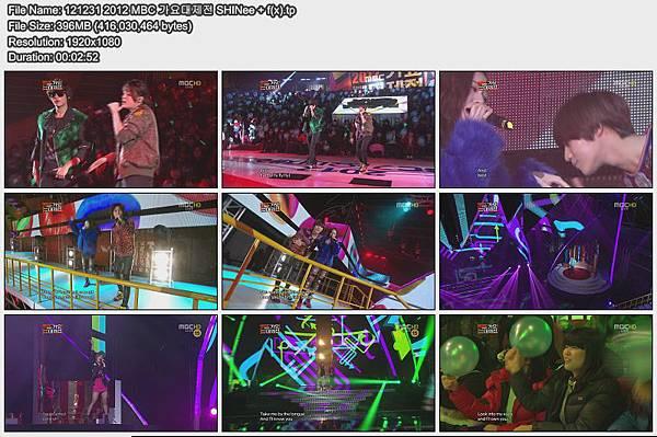 121231 2012 MBC 가요대제전 SHINee + f(x)