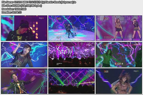 121231 MBC 가요대제전 f(x) Electric Shock [fx2you.net]