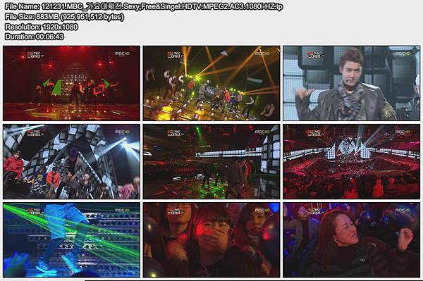 121231.MBC_가요대제전.Sexy,Free&Singel.HDTV.MPEG2.AC3.1080i-HZ