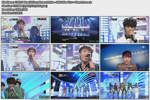 130321 Mnet M!CountDown Infinite - Still I Miss You + Man In Love