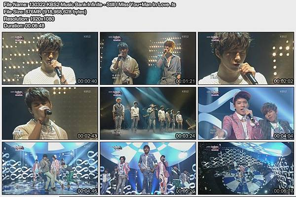 130322 KBS2 Music Bank Infinite - Still I Miss You+Man In Love