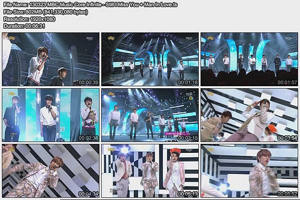 130323 MBC Music Core Infinite - Still I Miss You + Man In Love