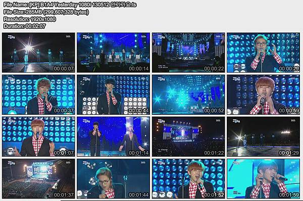 [KP] B1A4 Yesterday 1080i 130512 인기가요