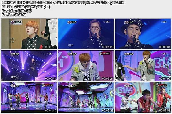 130509 엠카운트다운 B1A4 - 오늘의출연자+Yesterday+이게무슨일이야 by플로라