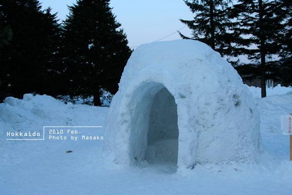 冰屋。其實裡面很溫暖