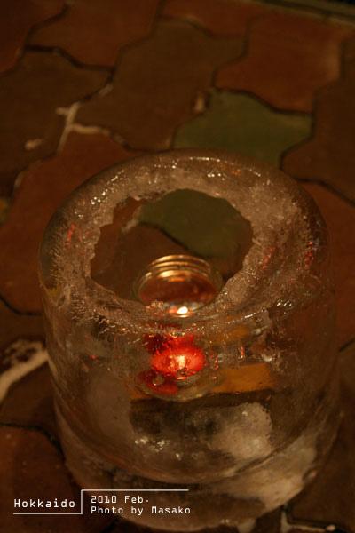 冰做成的燭台