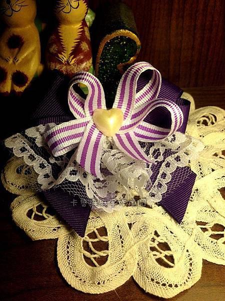 紫色蜜桃蕾絲