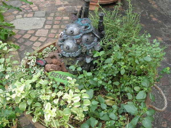排隊的時候發現旁邊一個小盆栽裡面居然有霍爾的移動城堡