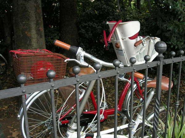 這是用來載小孩的腳踏車