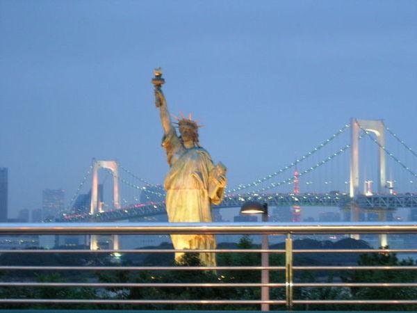 台場自由女神像也是有名的觀光景點