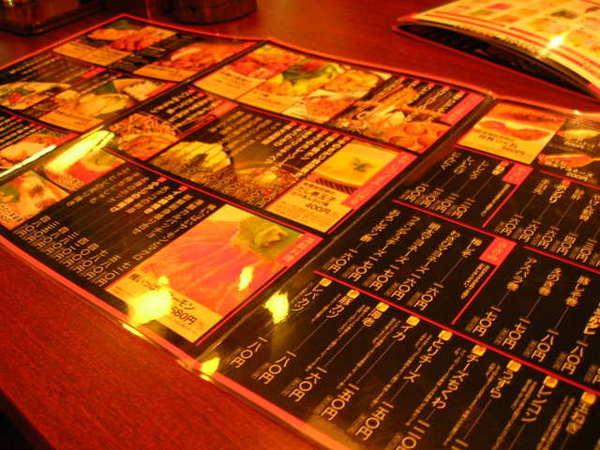 菜單全日文...我們點到頭昏...店員才慢半拍拿出英文菜單