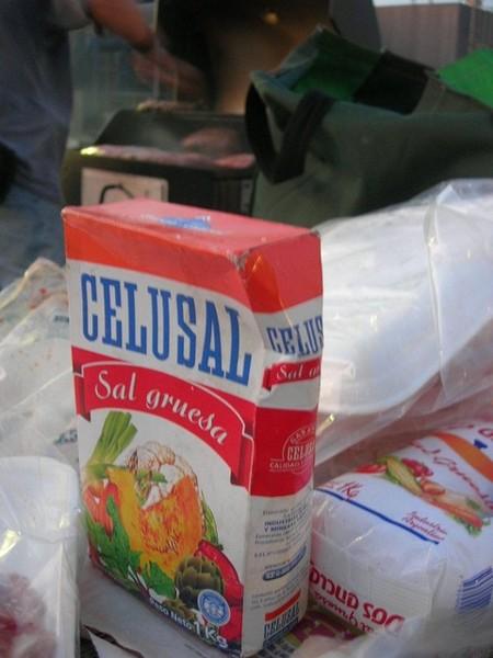 阿米果大哥的私房寶物...阿根廷來的粗鹽...灑在牛排上烤
