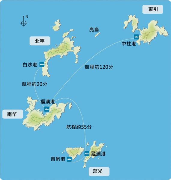馬祖列島地圖