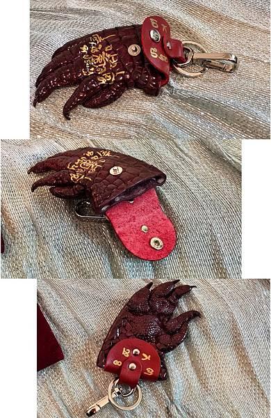 鱷魚皮鑰匙圈