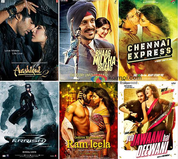 Aashiqui-2-Bhaag-Milkha-Bhaag-Chennai-Express-Krrish-3-Ram-Leela-and-Yeh-Jaawani-Hai-Deewani-Movie-Poster