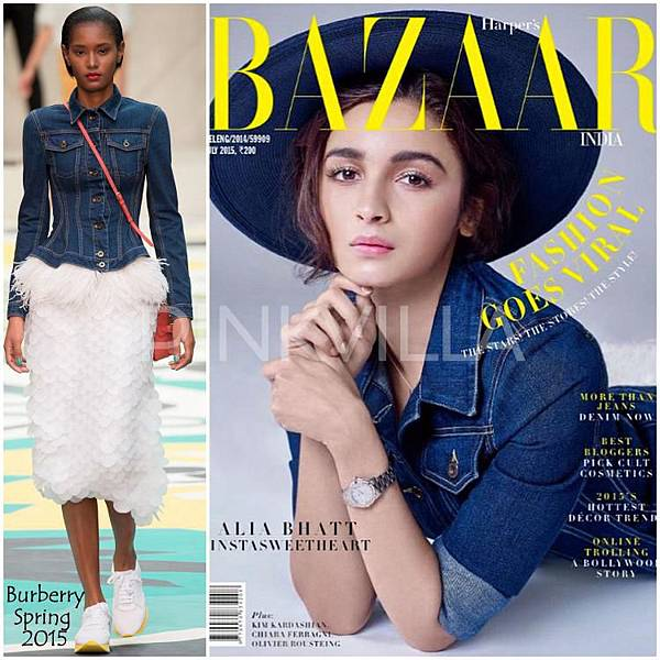 Alia Bhatt Bazaar India Burberry