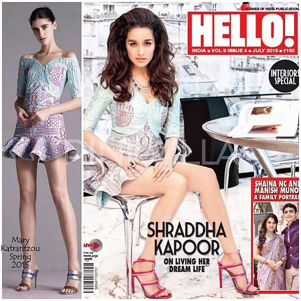 Shraddha Kapoor Mary Katrantzou Hello Magazine