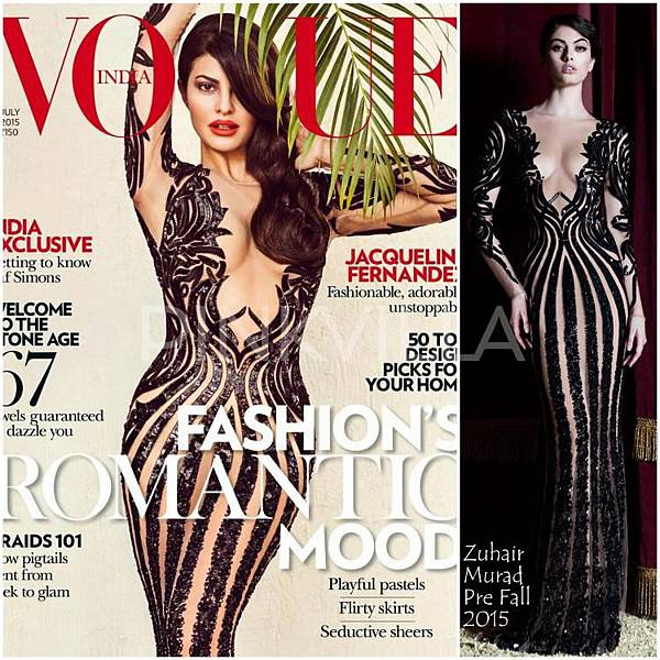 Jacqueline Fernandez Zuhair Murad Pre Fall 2015 Vogue India Cover_0