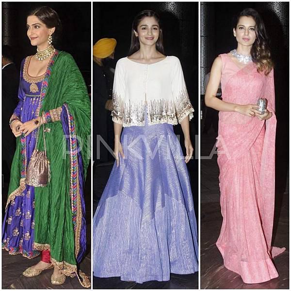 Sonam Kapoor Alia Bhatt Kangana Ranaut Shahid Mira Reception