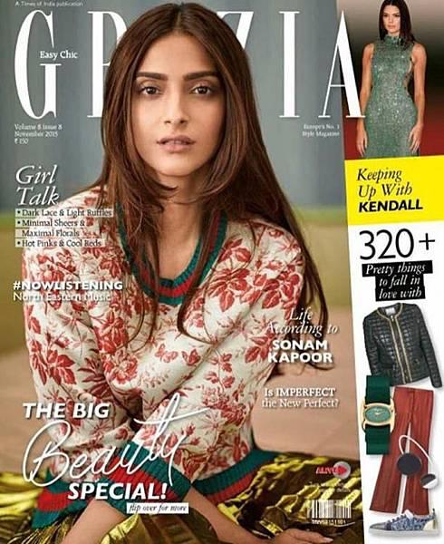 Sonam Kapoor Grazia India Gucci