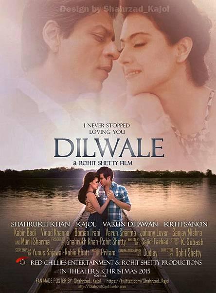 沙鲁克·汗与卡佳的Dilwale海报