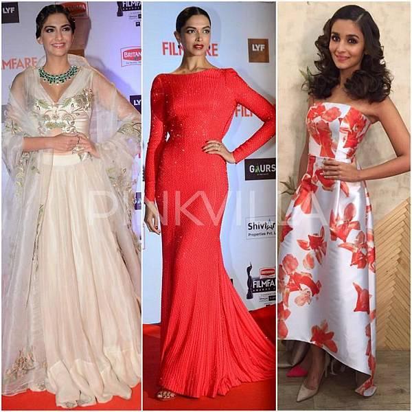 Sonam Kapoor Deepika Padukone Alia Bhatt