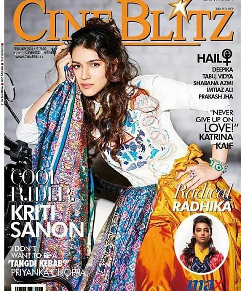 Kriti Sanon Cineblitz Cover