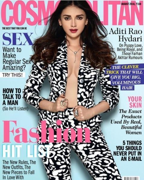 Aditi Rao Hydari skips her shirt and goes straight for jacket for Cosmo