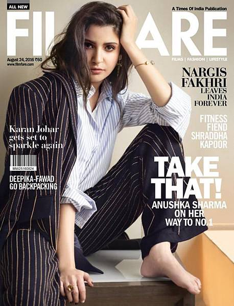 The girl on top Anushka Sharma suits up for Filmfare August issue