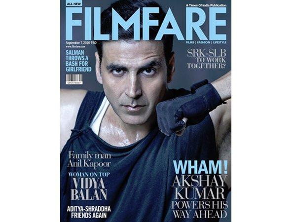 The unstoppable Akshay Kumar powers his way ahead on Filmfares latest cover