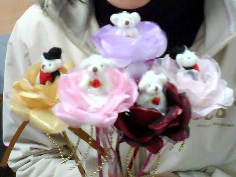 小熊花束 五種顏色