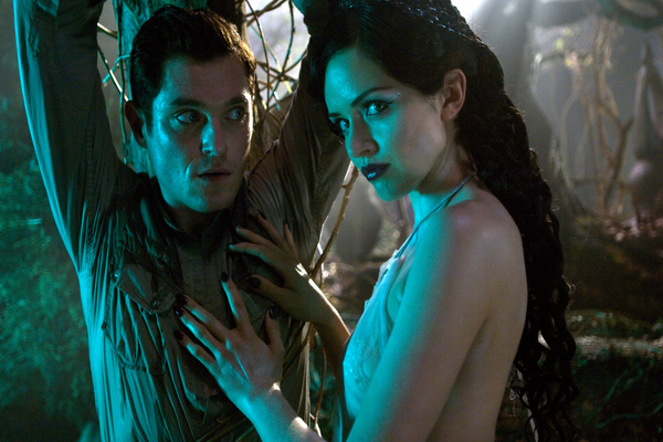 JIMMY (Mathew Horne) is held captive by EVA (Vera Filatova) in Lesbian Vampire Killers.jpg