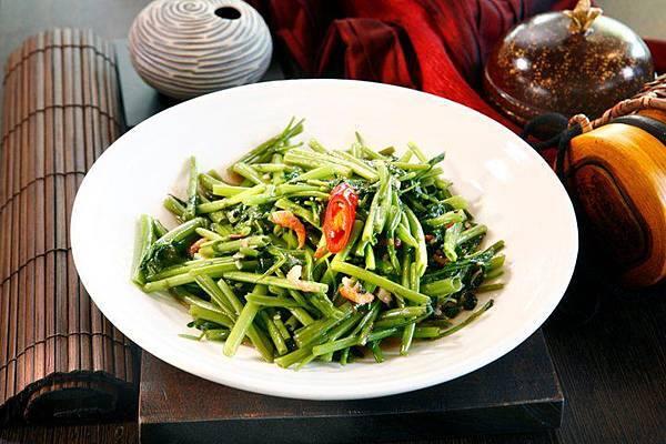 泰式空心菜(辣炒-蝦醬)