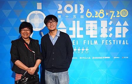 泰國貿易經濟辦事處長碧帝娜與瓦波坦榮瓜納塔利導演一同出席2013台北國際電影節《泰國影人茶敘》活動。(攝影林宥銣)