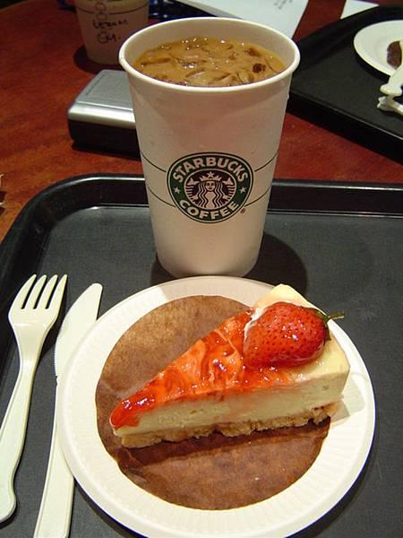 冰焦糖瑪奇朵&鮮莓起士蛋糕