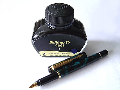 百利金4001藍黑色墨水&派克Rialto