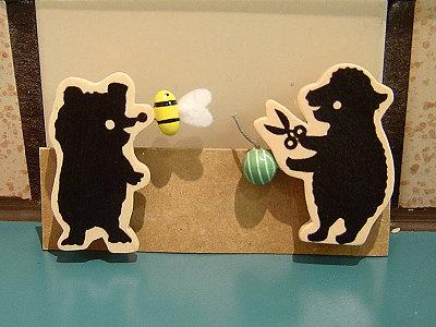 小熊兔子磁鐵木夾