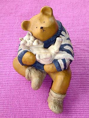 Bear&ME系列(英代理商),熊和貓(Edgsitter with Cat)