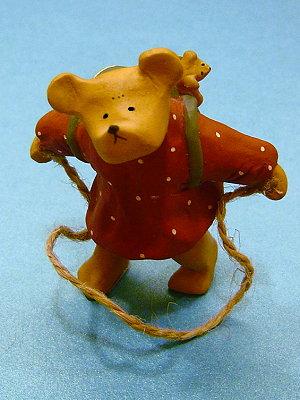 Bear&ME系列(英代理商),背帆布包跳繩的女孩(Girl with Rucksack & Skipping Rope)