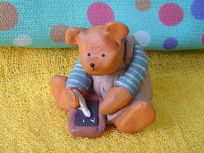 Bear&ME系列(英代理商),黑板小熊(Boy with Chalkboard)
