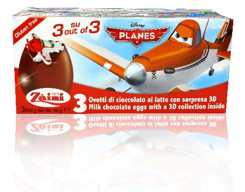 義大利 Zaini阿尼驚喜蛋(飛機總動員系列)三顆盒