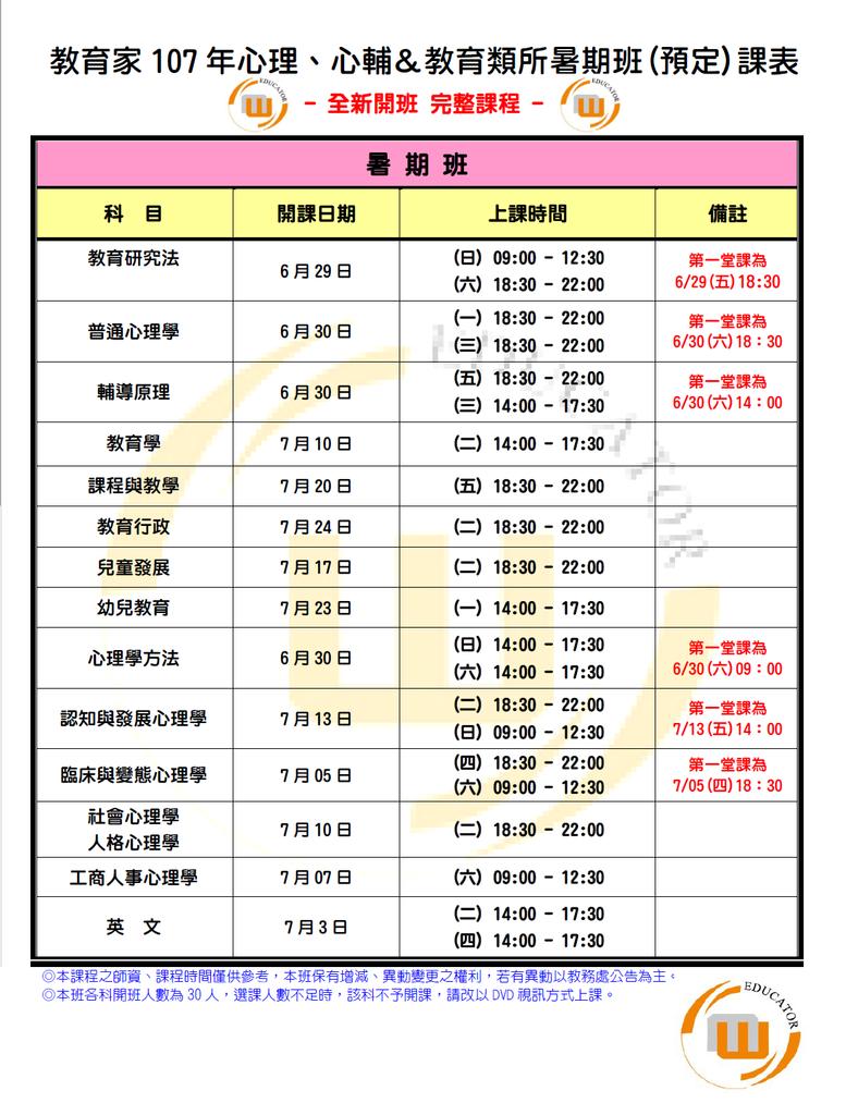 107暑期班預定課表 20180516.png