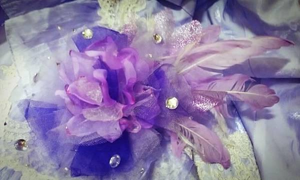 紫色迷幻-頭飾成品