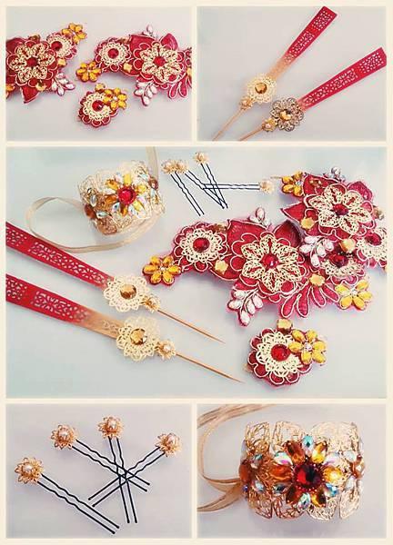 東方朱紅-飾品製作成品