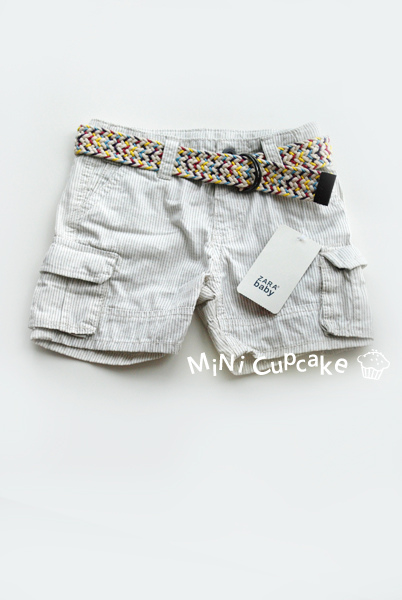 Zara 彩色腰帶短褲 白底 12~18M $360