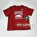 Roots Canada 經典款短袖上衣 經典紅 2T (適合2~3歲)