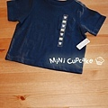 Old Navy 口袋短T 海軍藍 6~12M $200