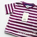 Zara 紫色條紋短T 6~9M $250